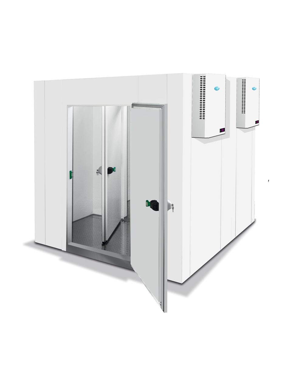 Chambres froides modulaires sans poteaux d'angles